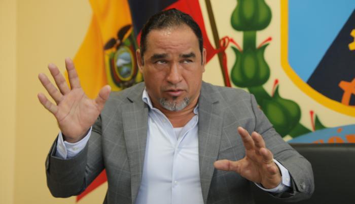 El alcalde de Durán, Dalton Narváez, en una entrevista con Diario EXRESO.
