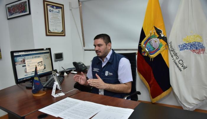 Andrés Fantoni Baldeón. coordinador Zonal 8, del Registro Civil.