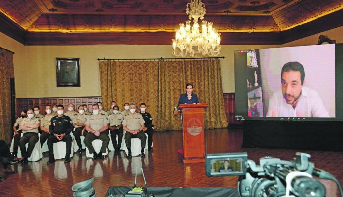 Maria Paula Romo declara ante la comision de Fiscalizacion por las manifestaciones de octubre de 2019.   Quito 31 de Octubre de 2020 Agencia(ag-extra ag-expreso-ag-quito)