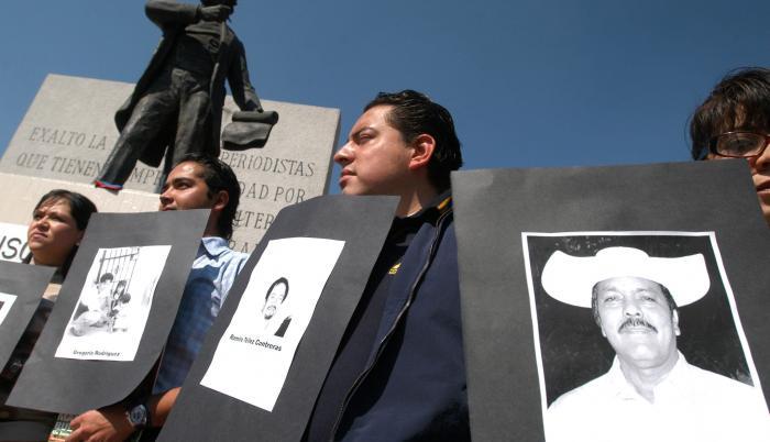 Protestas por periodistas asesinados