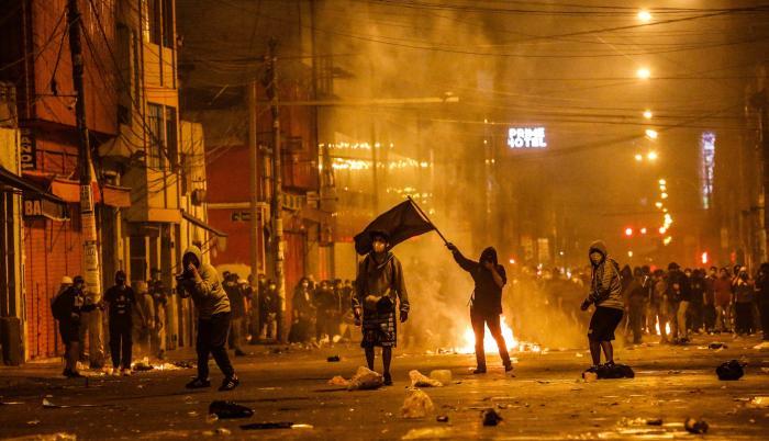 Las violentas manifestaciones en Peú no cesan.