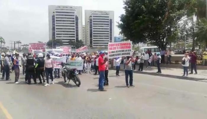 En septiembre, los cañicultores protestaron en Guayaquil.