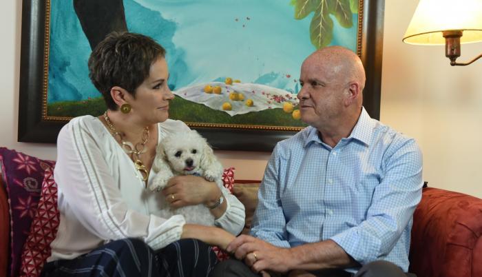 Alfredo Borrero y Lucía Pazmiño