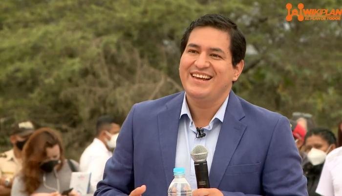 Andrés Arauz en el lanzamiento del Wikiplan