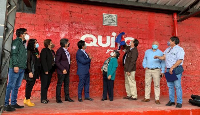 El alcalde, Jorge Yunda, entregó obras rehabilitadas