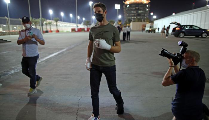 Grosjean accidente F1
