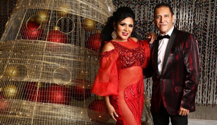 Lila Flores y Gustavo Enrique