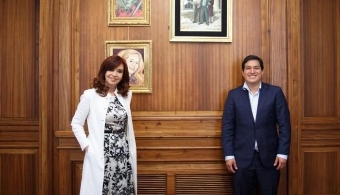 Andrés Arauz visita a Cristina Fernández en Buenos Aires