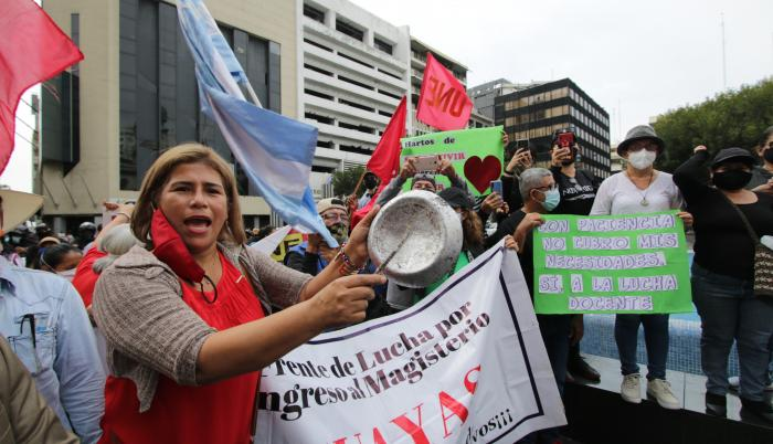 Protesta de maestros_Archivo
