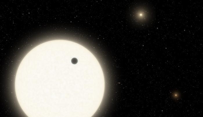 EuropaPress_3513696_ilustracion_muestra_planeta_koi-5ab_transito_cara_estrella_similar_sol