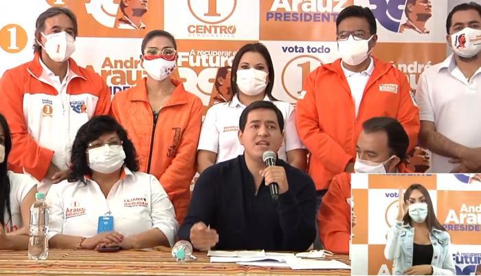 Rueda de prensa de Andrés Arauz, 13 ene. 21