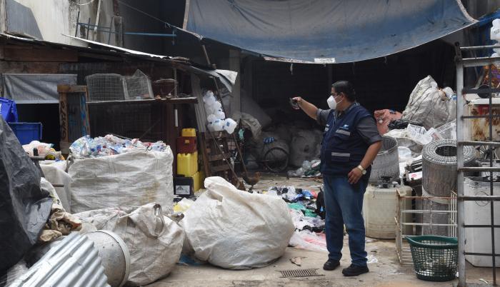 El operativo tuvo lugar en el centro de Guayaquil.