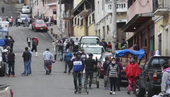 El Centro Histórico de Quito aglutina concentraciones de ciudadanos.