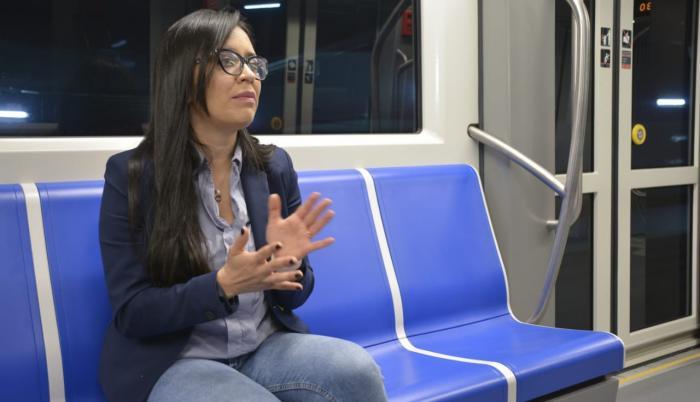 Andrea Flores, gerente del Metro de Quito.