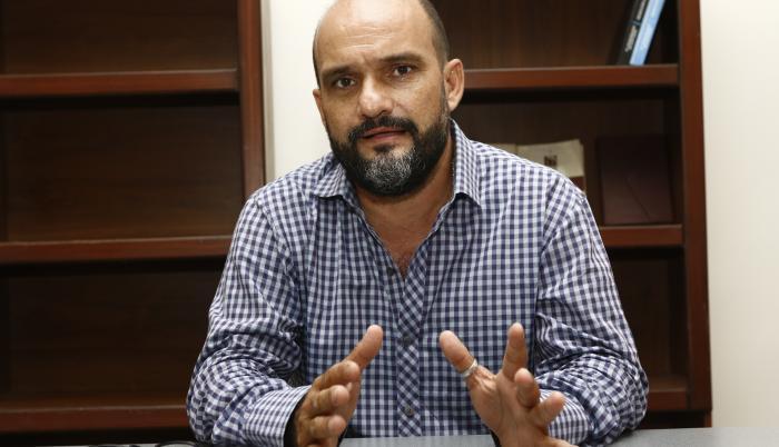 Christian Sarmiento, presidente de Fetug, en entrevista con EXPRESO.