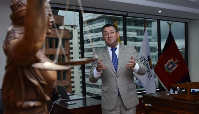 Iván Saquicela es el presidente de la Corte Nacional de Justicia