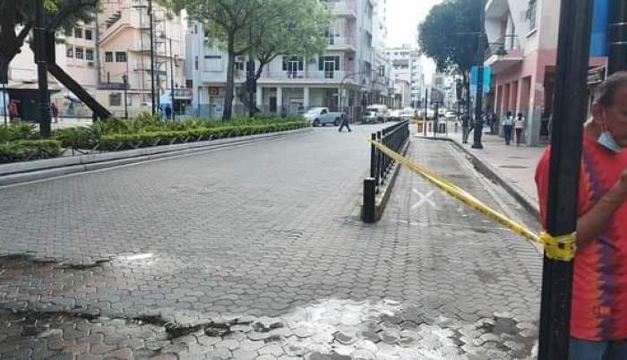 Así luce la estación de los taxirrutas del lado de Víctor Manuel Rendón.