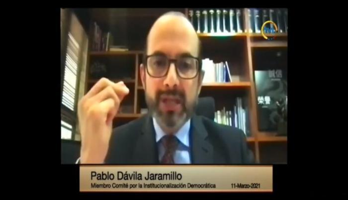Pablo Dávila, presidente de Comité de Institucionalización Democrática