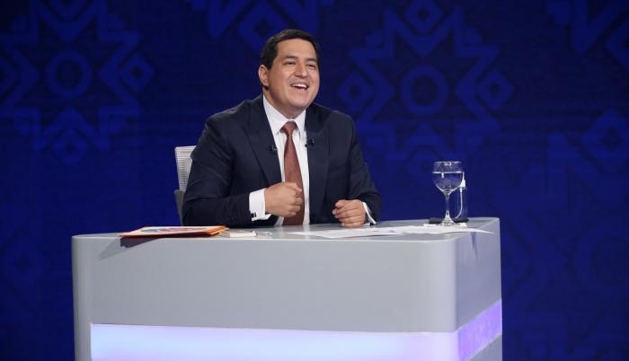 Andrés Arauz en el debate presidencial