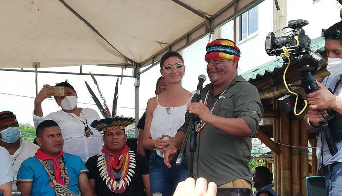 Jaime Vargas expresó su apoyo a Arauz en la Amazonía.