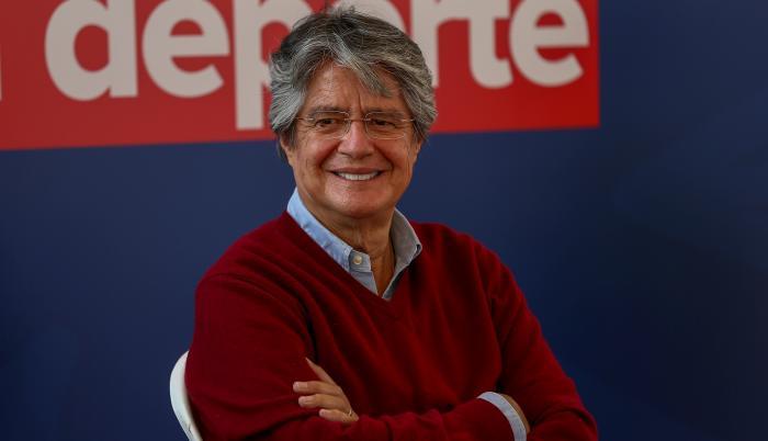 En la imagen, el candidato presidencial ecuatoriano, Guillermo Lasso.