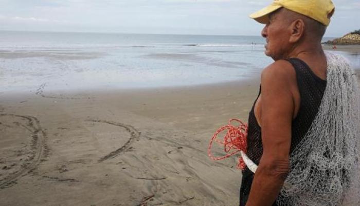 Francisco Yagual, pescador