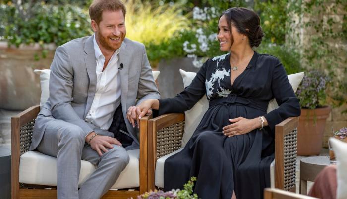 El príncipe Harry de Inglaterra y Meghan Markle.