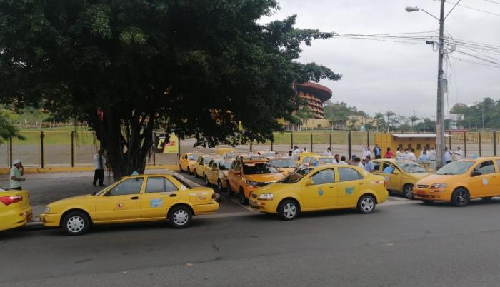 plantón de taxistas